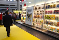 Internationale Buch-Messe (Salone Del Libro) Turin Stockfotos