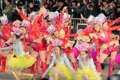 Internationale chinesische neues Jahr-Nachtparade 2012 Stockfotografie