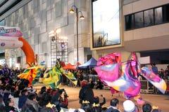 Internationale chinesische neues Jahr-Nachtparade 2012 Stockfotos