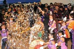 Internationale chinesische neues Jahr-Nachtparade 2012 Lizenzfreie Stockfotografie