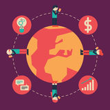 Internationale communicatie stock illustratie