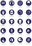 Internationale communicatie tekens voor werkplaatsen. royalty-vrije illustratie