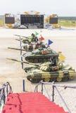 Internationale competities Tank Biathlon Royalty-vrije Stock Foto