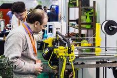Internationale Conferentie en Tentoonstelling van 3D druk scann Royalty-vrije Stock Afbeeldingen