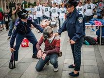 Internationale Dag tegen Druggebruik en het Ongeoorloofde Handel drijven Stock Fotografie