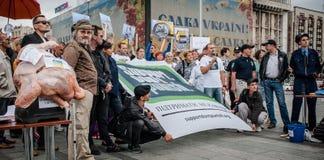 Internationale Dag tegen Druggebruik en het Ongeoorloofde Handel drijven Royalty-vrije Stock Fotografie