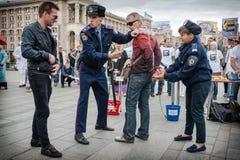 Internationale Dag tegen Druggebruik en het Ongeoorloofde Handel drijven Stock Foto's