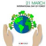 Internationale Dag van Bossen stock illustratie