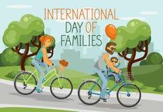 Internationale dag van Families stock illustratie