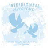 Internationale Dag van Vrede royalty-vrije illustratie
