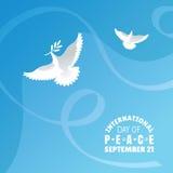 Internationale Dag van Vredesachtergrond Royalty-vrije Stock Foto