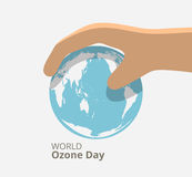 Internationale dag voor het behoud van de ozonlaag Stock Afbeelding