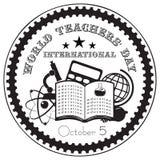 Internationale de Dag van wereldleraren Stock Afbeelding