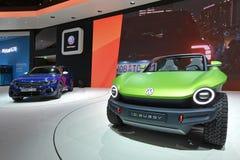 Internationale de Motorshow van 89ste Genève - Volkswagen-het conceptenauto Met fouten van identiteitskaart royalty-vrije stock afbeeldingen