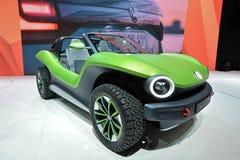 Internationale de Motorshow van 89ste Genève - Volkswagen-het conceptenauto Met fouten van identiteitskaart stock foto's