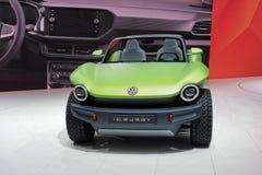 Internationale de Motorshow van 89ste Genève - Volkswagen-het conceptenauto Met fouten van identiteitskaart stock afbeeldingen