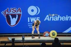 2017 internationale de Wereldkampioenschappen van de Gewichtheffenfederatie royalty-vrije stock fotografie