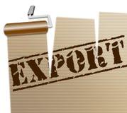 Internationale Export-Shows über The Globe und überall Lizenzfreie Stockfotografie