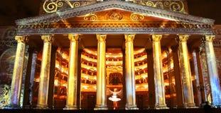 Internationale festivalcirkel van licht op 13 Oktober, 2014 in Moskou, Rusland Stock Afbeelding