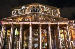 Internationale festivalcirkel van licht op 13 Oktober, 2014 in Moskou, Rusland Stock Fotografie