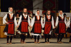 10 internationale festivalfolklore in Lukavac 9 7 2016 Royalty-vrije Stock Foto