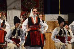 10 internationale festivalfolklore in Lukavac 9 7 2016 Stock Foto's