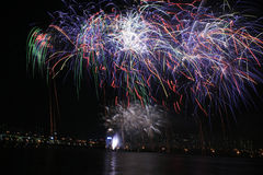 Internationale Feuerwerke Lizenzfreies Stockbild