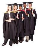 Internationale gediplomeerden Stock Foto