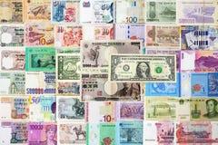 Internationale geldenachtergrond Stock Afbeelding