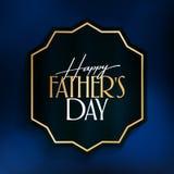 Internationale Gelukkige Vaderdag Aanplakbord, Affiche, Sociale Media, het malplaatje van de Groetkaart vector illustratie