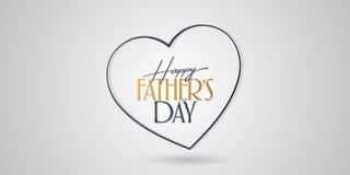 Internationale Gelukkige Vaderdag Aanplakbord, Affiche, Sociale Media, het malplaatje van de Groetkaart stock illustratie