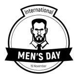 Internationale Gesichtsikone der Männer Tages, einfache Art vektor abbildung