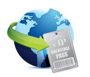 Internationale globale vip van de Coulissepas Royalty-vrije Stock Afbeelding