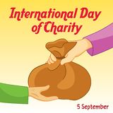 Internationale Grafische Dag van Liefdadigheid en Illustratie stock illustratie