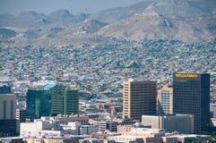 Internationale grens in El Paso stock afbeelding
