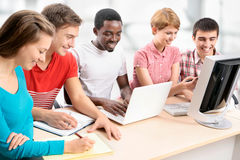 Internationale groep studenten Stock Afbeelding