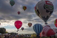 Internationale Heißluft-Ballon-Fiesta in Bristol Stockfotos
