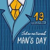 Internationale het conceptenachtergrond van de mensendag, hand getrokken stijl stock illustratie