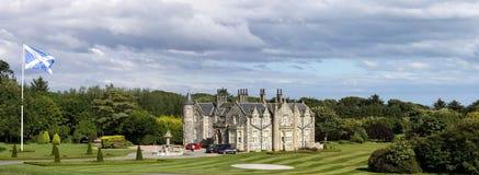 Internationale het Golfverbindingen van Donald Trump Balmedie, Aberdeenshire, Schotland stock foto