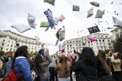 Internationale hoofdkussenstrijd in Thessaloniki, Griekenland royalty-vrije stock foto