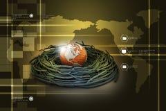 Internationale investeringen en globale financiën royalty-vrije illustratie