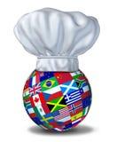 Internationale Küche Stockfotografie