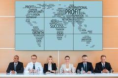 Internationale Konferenz stockbilder