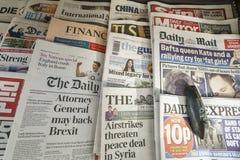 Internationale kranten royalty-vrije stock fotografie