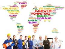 Internationale Kunstfertigkeit weltweit im Team stockfotografie