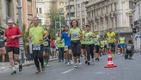 Internationale Marathon 04 van Boekarest van de Raiffeisenbank 10 2015 Royalty-vrije Stock Fotografie