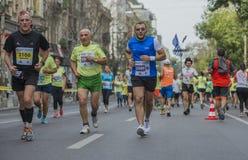 Internationale Marathon 04 van Boekarest van de Raiffeisenbank 10 2015 Stock Foto
