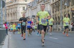 Internationale Marathon 04 van Boekarest van de Raiffeisenbank 10 2015 Stock Fotografie