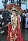 19 11 2017 internationale Marine-, internationale Flottenbericht asean-` s 50 Jahrestagsparade 2017 in Pattaya, Thailand Lizenzfreie Stockfotografie