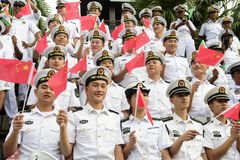 19 11 2017 internationale Marine-, internationale Flottenbericht asean-` s 50 Jahrestagsparade 2017 in Pattaya, Thailand Stockfotos